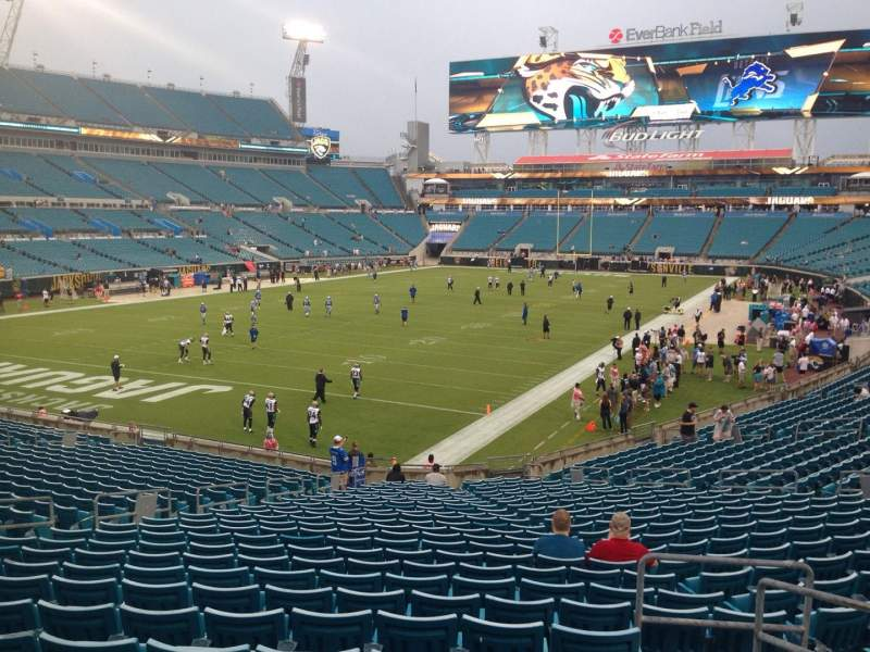 Seating view for EverBank Field Section 119 Row CC Seat 4