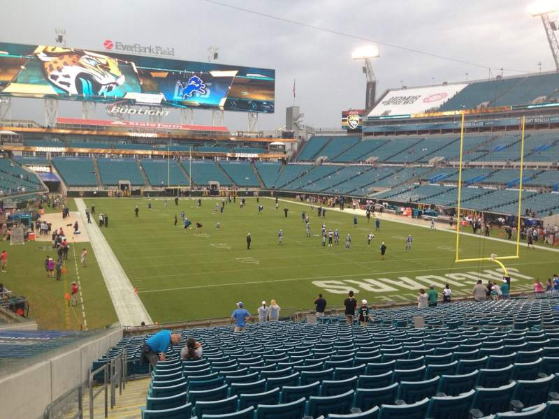 Seating view for EverBank Field Section 125 Row EE Seat 20