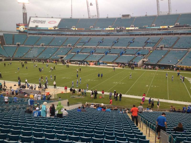 Seating view for EverBank Field Section 133 Row GG Seat 1