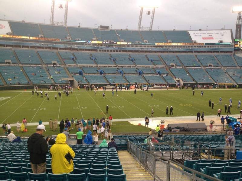 Seating view for EverBank Field Section 140 Row FF Seat 1