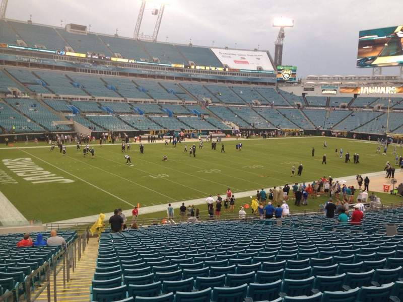Seating view for EverBank Field Section 143 Row EE Seat 21