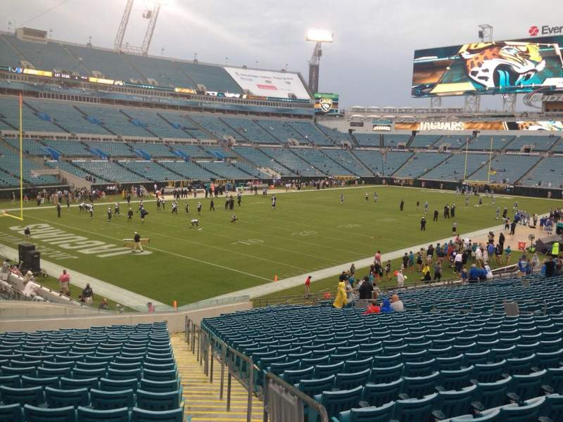 Seating view for EverBank Field Section 144 Row FF Seat 1