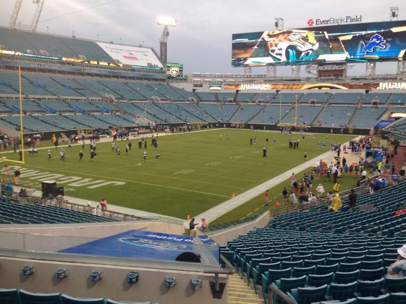 Seating view for EverBank Field Section 145 Row FF Seat 1