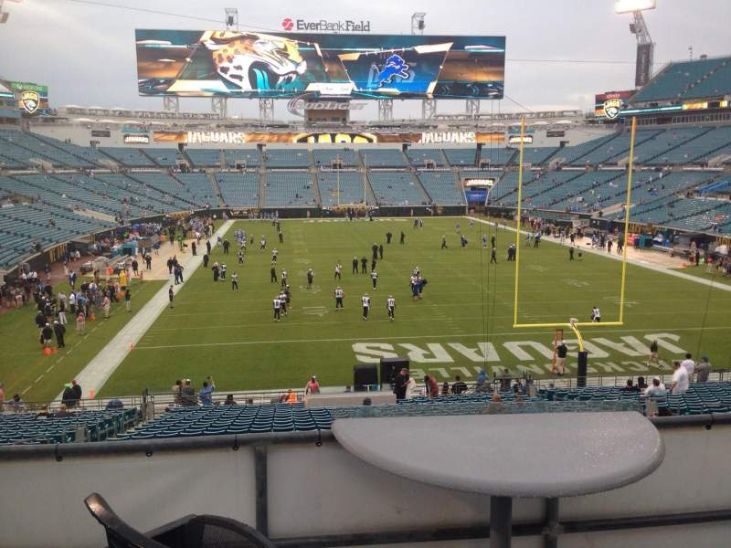 Seating view for EverBank Field Section 149 Seat 16