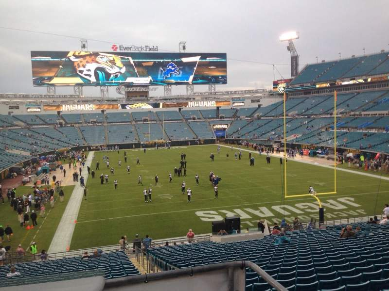 Seating view for EverBank Field Section 150 Seat 17