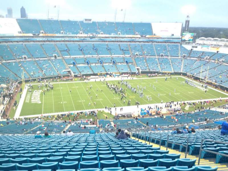 Seating view for EverBank Field Section 440 Row CC Seat 6