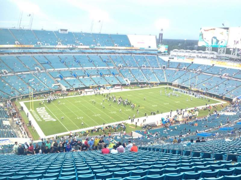 Seating view for EverBank Field Section 442 Row EE Seat 12