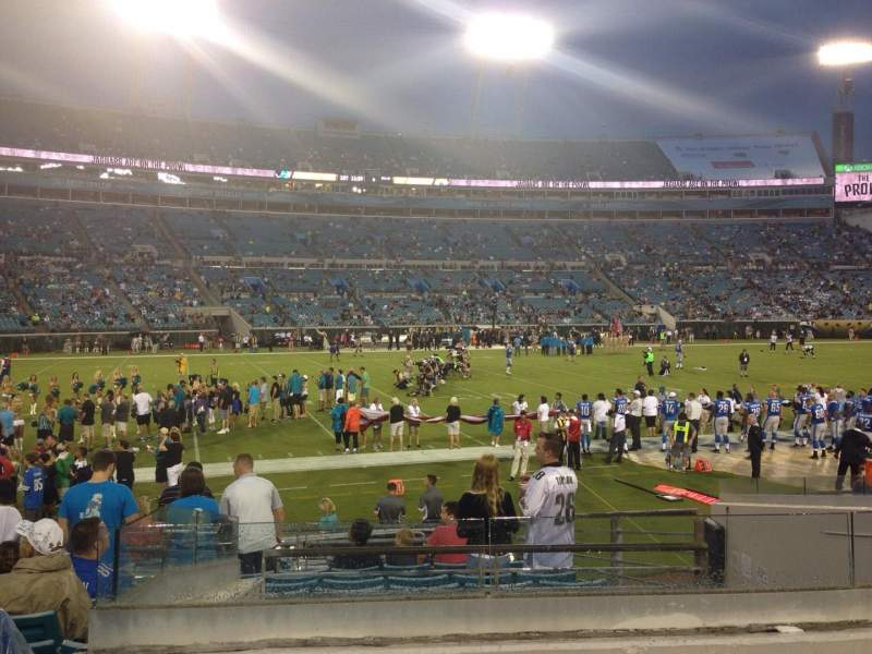 Seating view for EverBank Field Section 140 Row L Seat 12