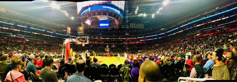 Seating view for Staples Center Section 106 Row D Seat 1