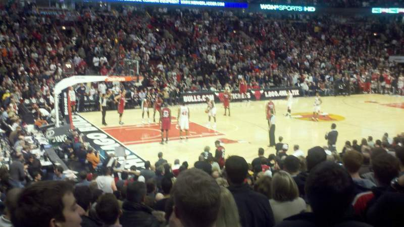 Seating view for United Center Section 112 Row 10 Seat 12