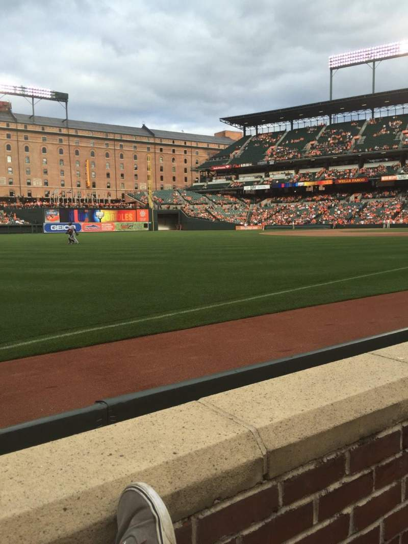 Seating view for Oriole Park at Camden Yards Section 68 Row 1 Seat 1