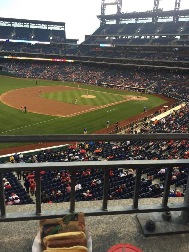 Seating view for Citizens Bank Park Section 234 Row 1 Seat 9