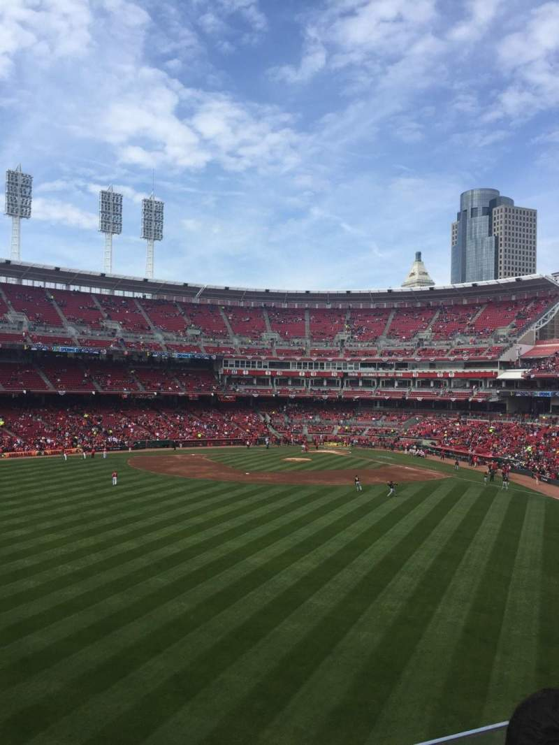 Seating view for Great American Ball Park Section 401 Row 2 Seat 6