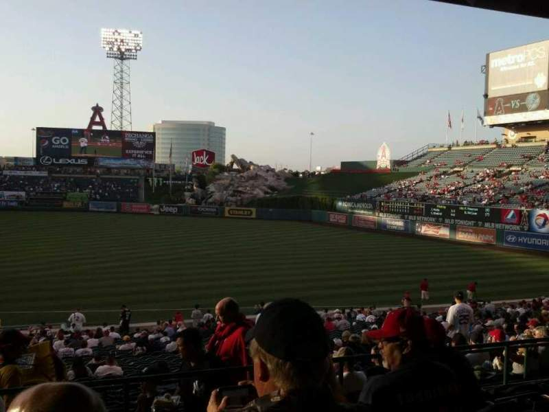 Seating view for Angel Stadium Section 226 Row K Seat 3