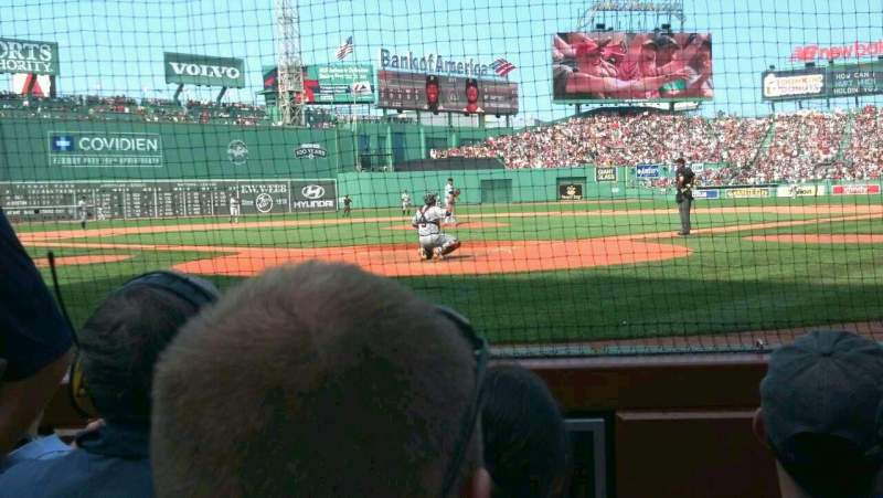 Seating view for Fenway Park Section Field Box 43 Row 5 Seat 2