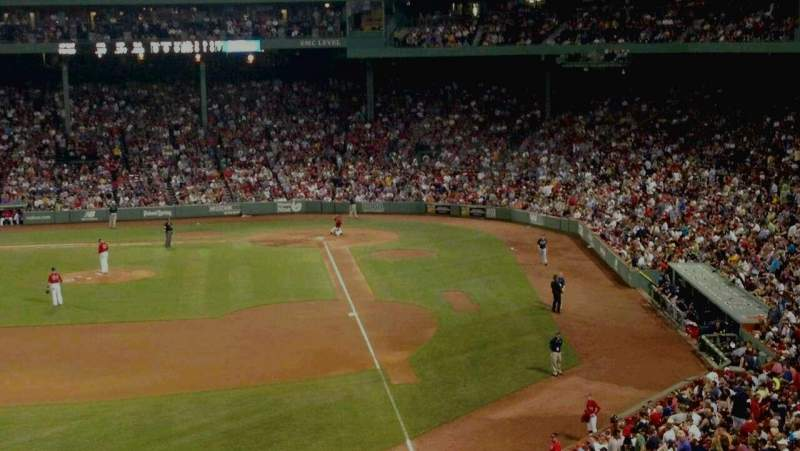 Seating view for Fenway Park Section monster