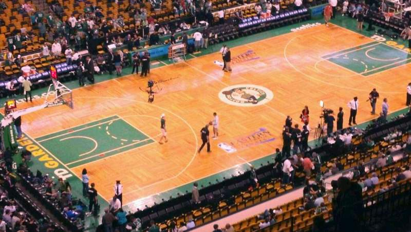 Seating view for TD Garden Section Bal 320