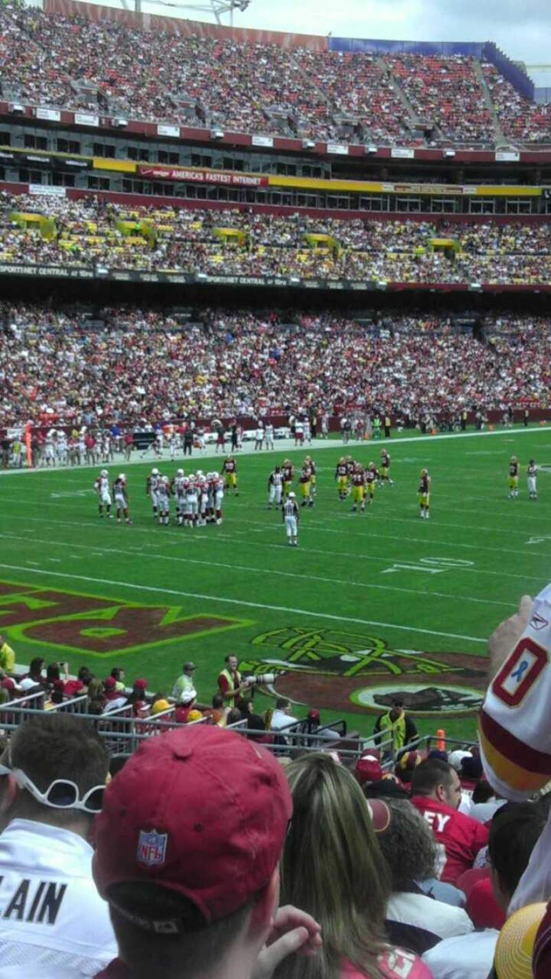 Seating view for FedEx Field Section 108 Row 22 Seat 4