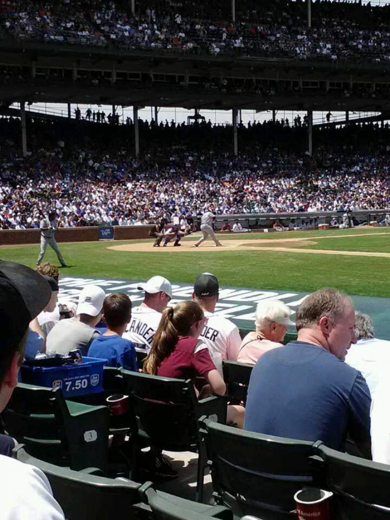Seating view for Wrigley Field Section 31 Row 6 Seat 4