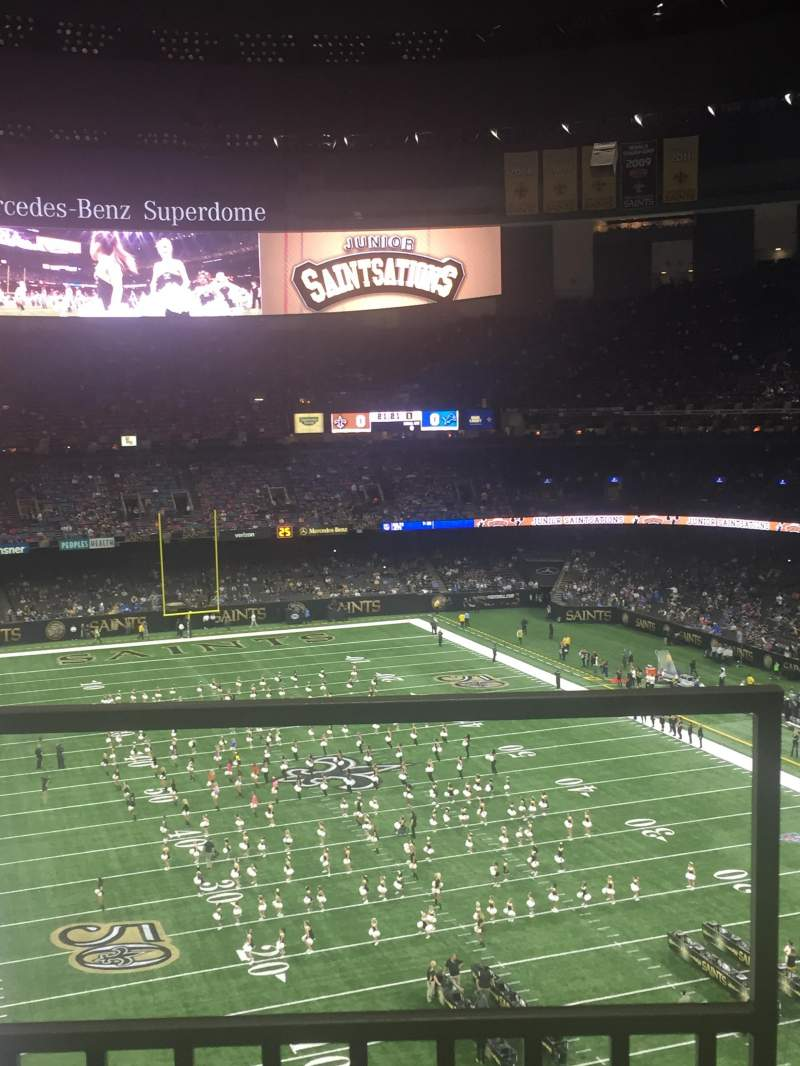Seating view for Mercedes-Benz Superdome Section 630 Row 3 Seat 4
