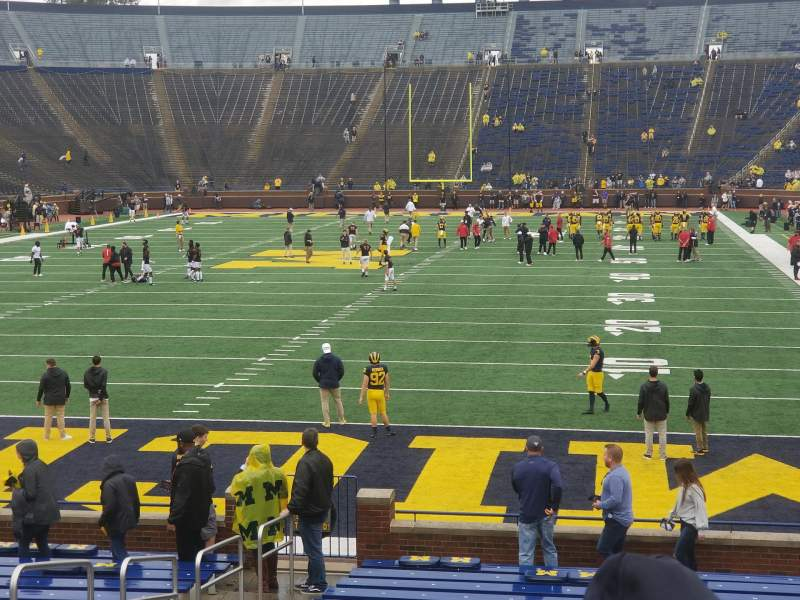Seating view for Michigan Stadium Section 11