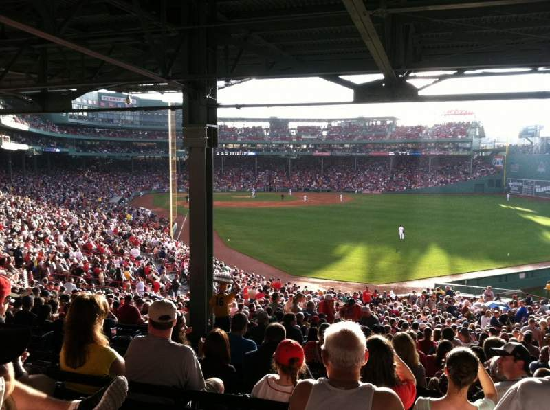 Seating view for Fenway Park Section Grandstand 3 Row 14 Seat 23
