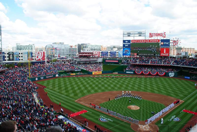 Seating view for Nationals Park Section 312 Row E Seat 10