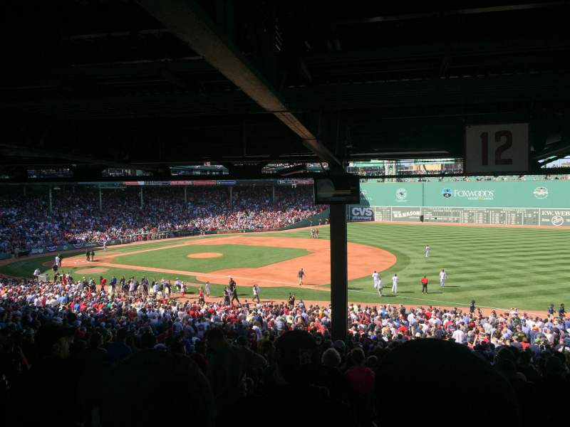 Seating view for Fenway Park Section Grandstand 12 Row 17 Seat 11