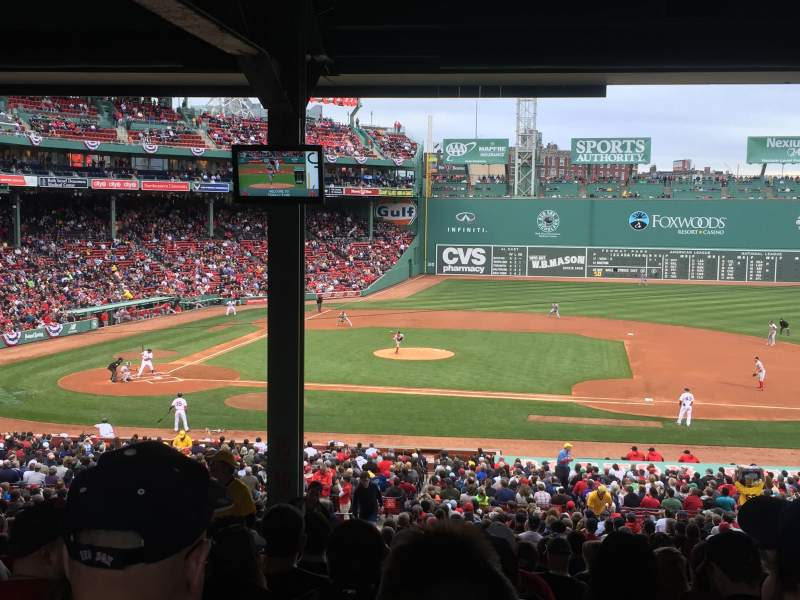 Seating view for Fenway Park Section Grandstand 15 Row 17 Seat 23