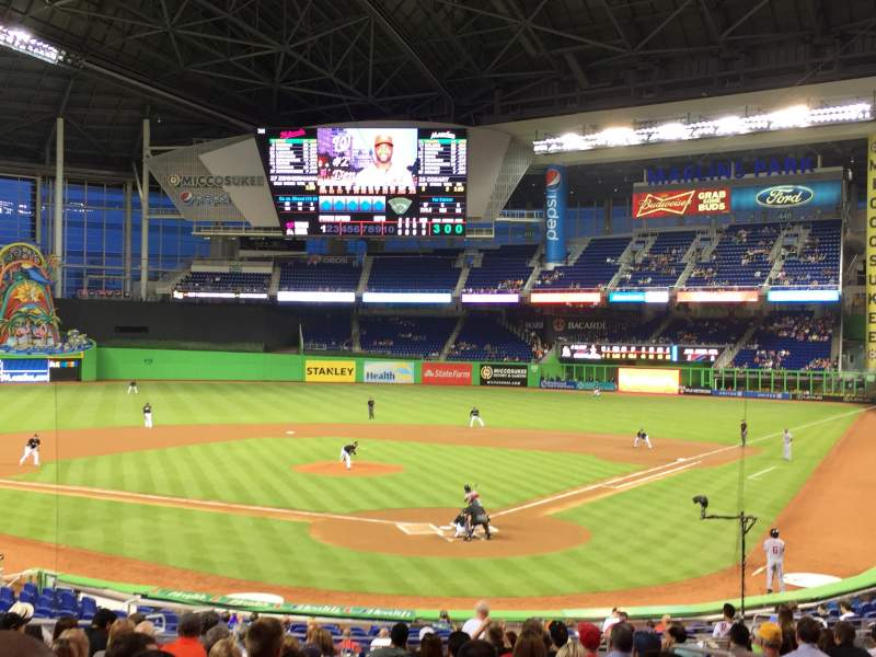 Seating view for Marlins Park Section 16 Row 11 Seat 9