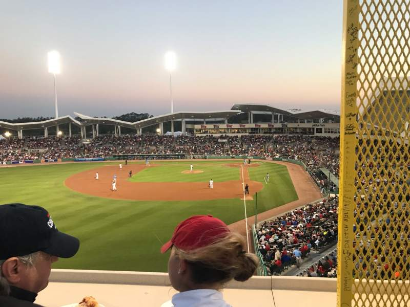 Seating view for JetBlue Park Section GMDSR Row 1 Seat 30