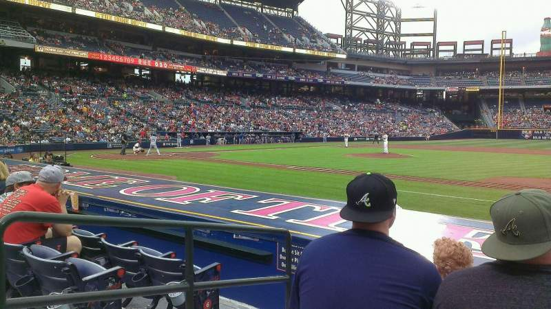 Seating view for Turner Field Section 113 Row 7 Seat 5