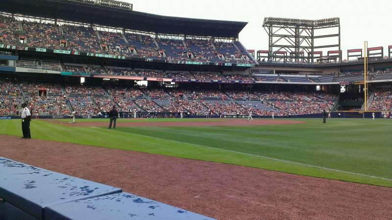 Seating view for Turner Field Section 119 Row 1 Seat 7