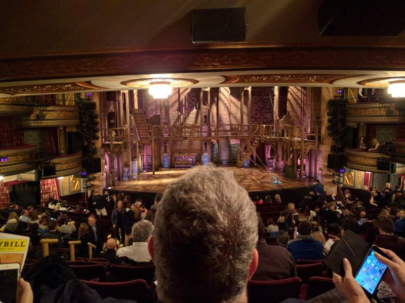 Seating view for Richard Rodgers Theatre Section Orchestra Center Row T Seat 110