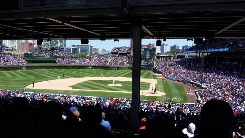 Seating view for Wrigley Field Section 216 Row 18 Seat 9