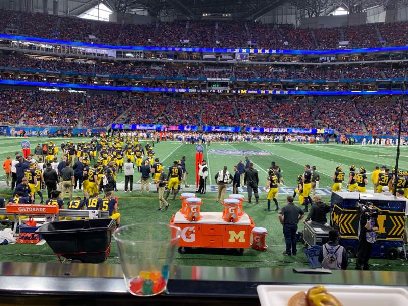 Seating view for Mercedes-Benz Stadium Section C110 Row 1 Seat 20