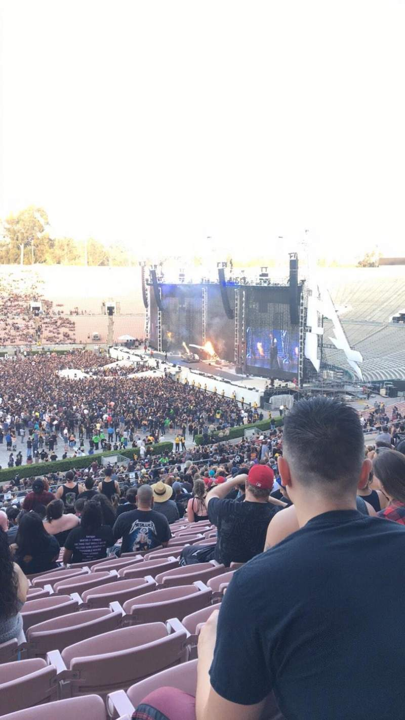 Rose Bowl, section: 18-H, row: 66, seat: 104