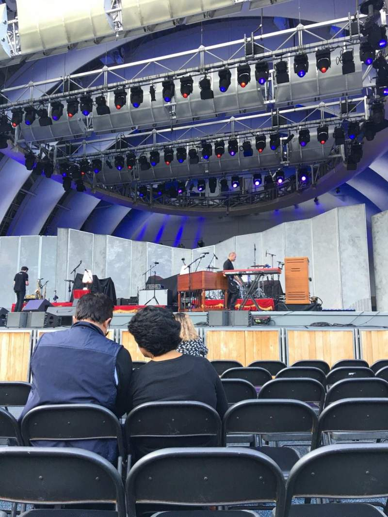 Hollywood Bowl, section: pb, row: 7, seat: 9