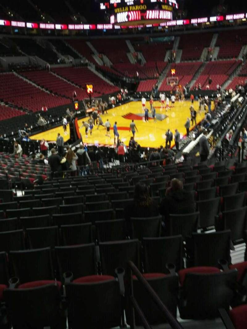 Seating view for Moda Center Section 105 Row o Seat 17