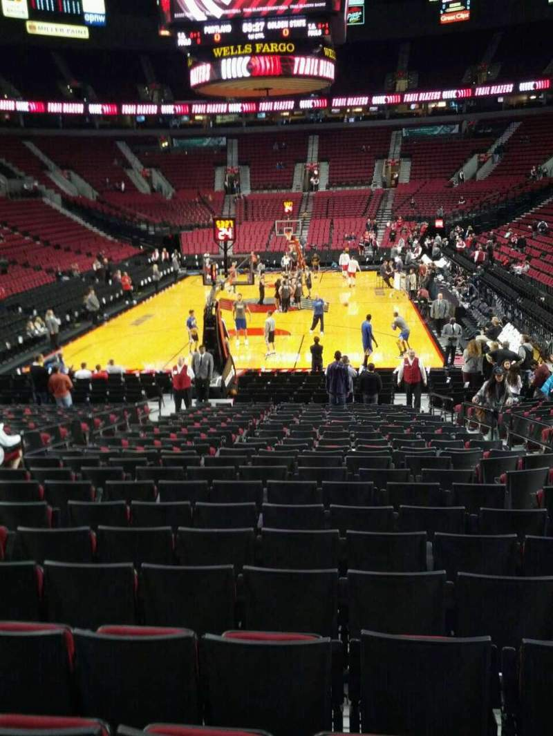 Seating view for Moda Center Section 105 Row l Seat 7