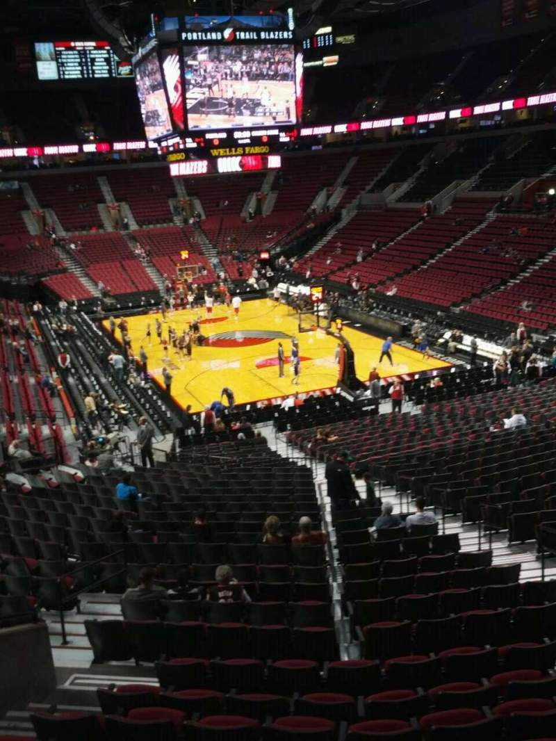 Seating view for Moda Center Section 210 Row j Seat 11
