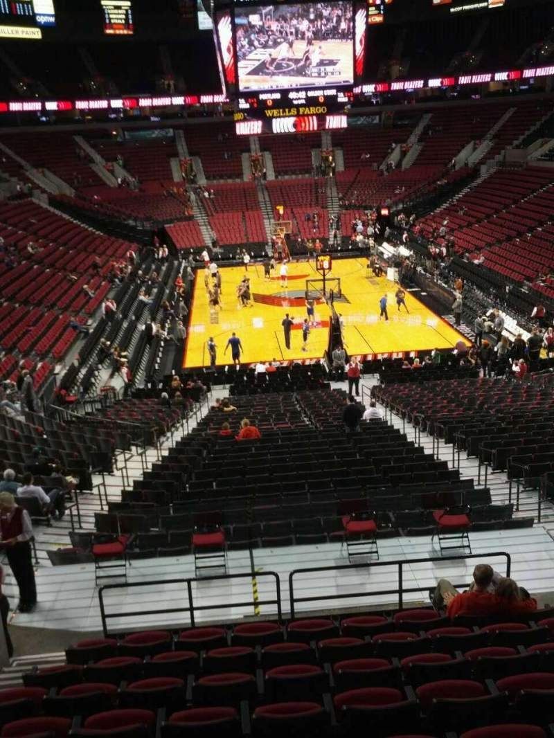 Seating view for Moda Center Section 209 Row k Seat 9