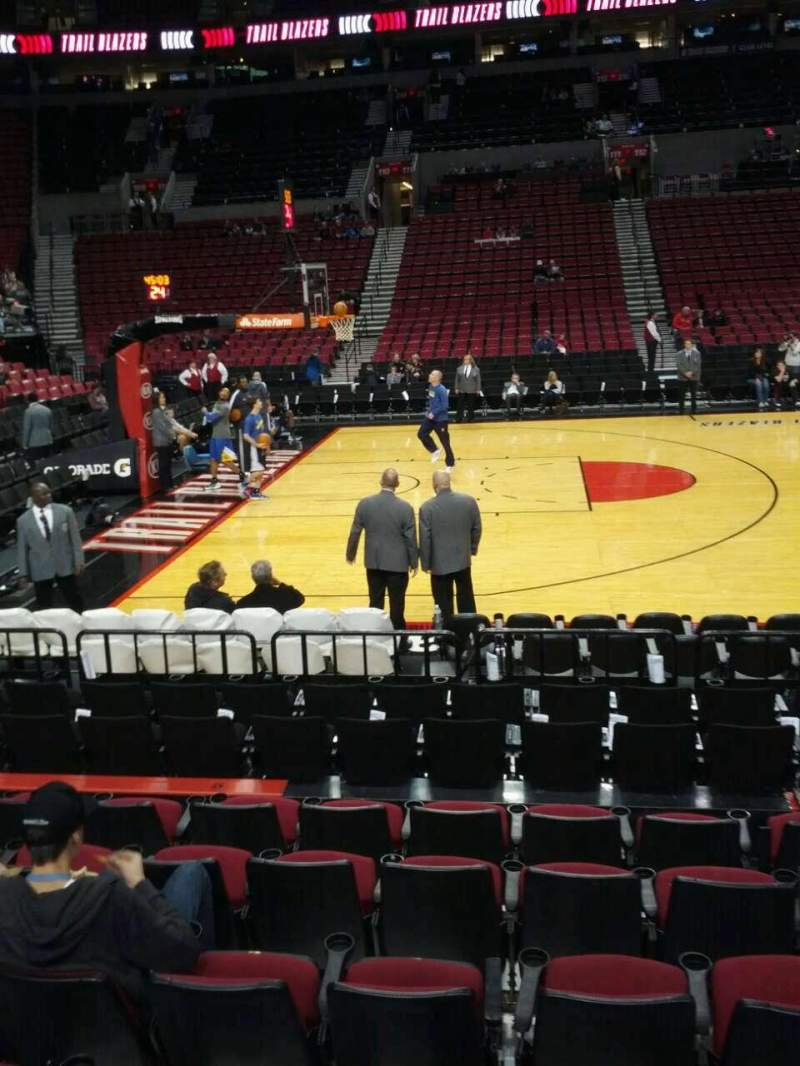 Seating view for Moda Center Section 102 Row g Seat 6