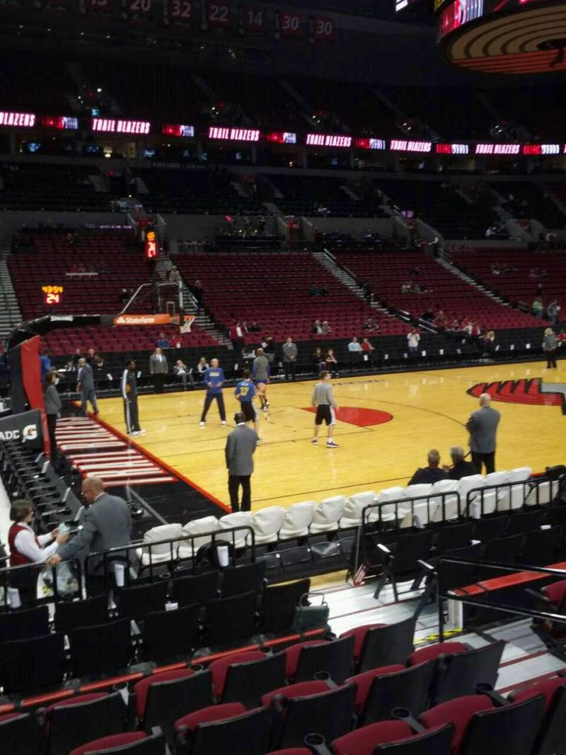 Seating view for Moda Center Section 114 Row g Seat 6