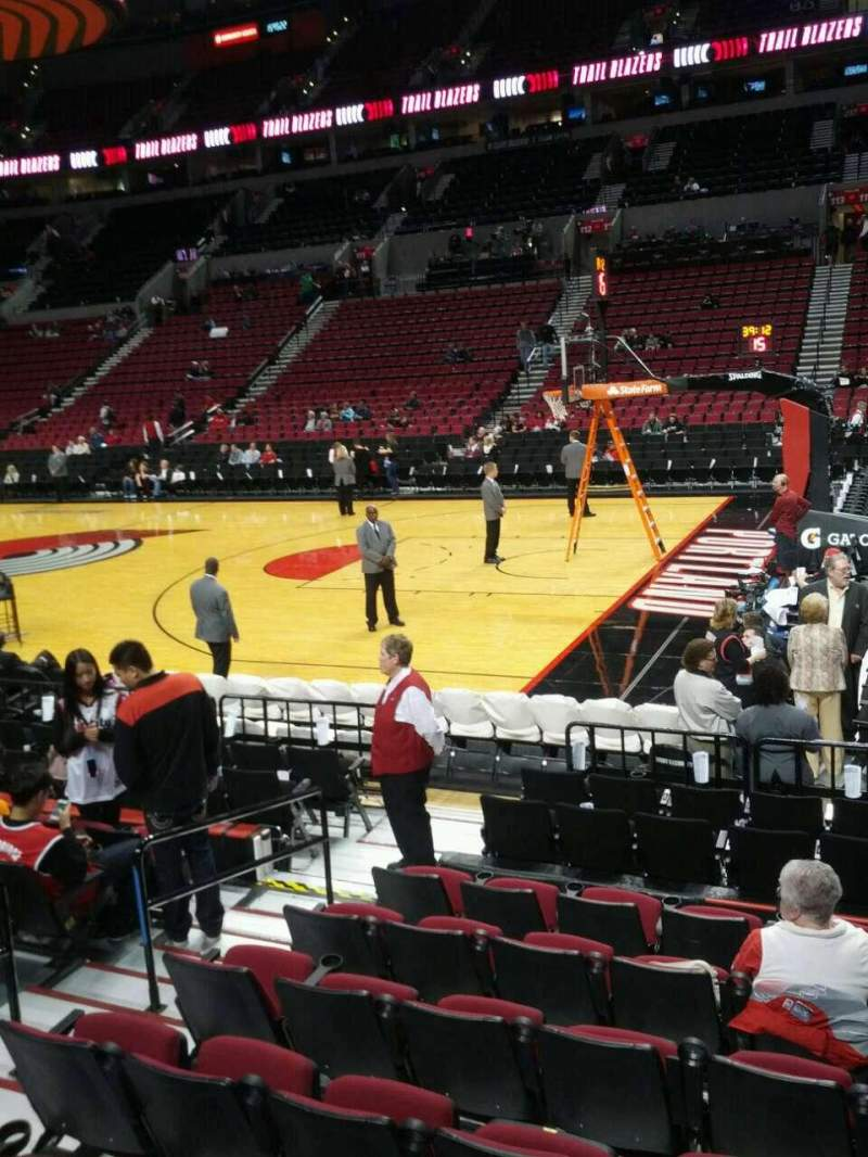 Seating view for Moda Center Section 121 Row h Seat 16