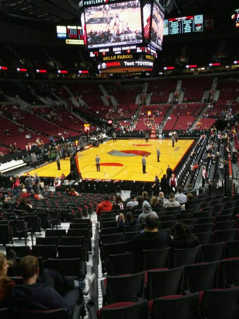 Seating view for Moda Center Section 222 Row a Seat 4