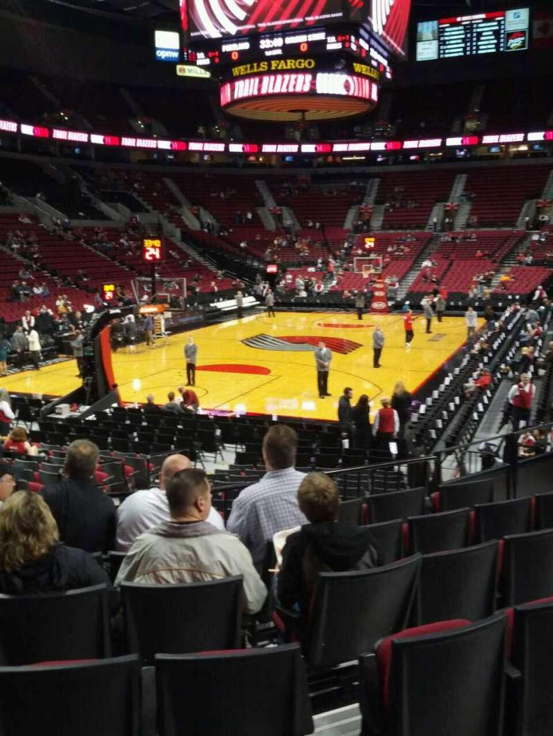 Seating view for Moda Center Section 116 Row g Seat 11