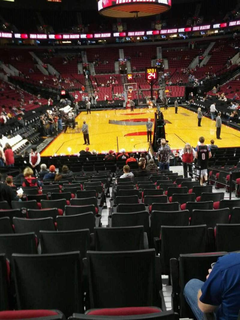 Seating view for Moda Center Section 118 Row e Seat 3