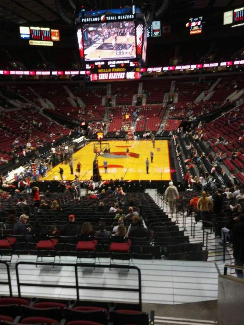Seating view for Moda Center Section 223 Row g Seat 1