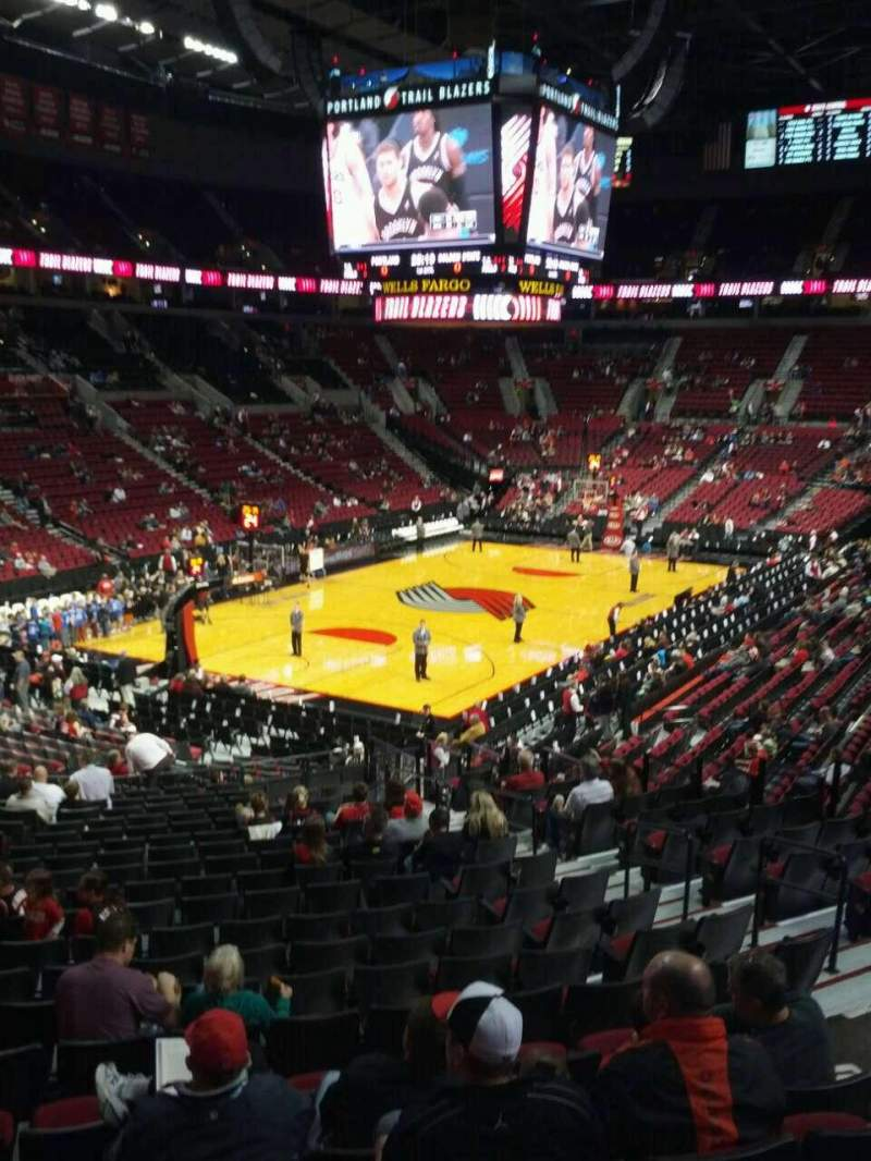 Seating view for Moda Center Section 221 Row g Seat 7